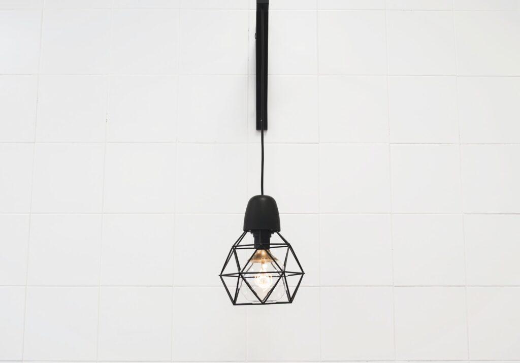 A lit bulb
