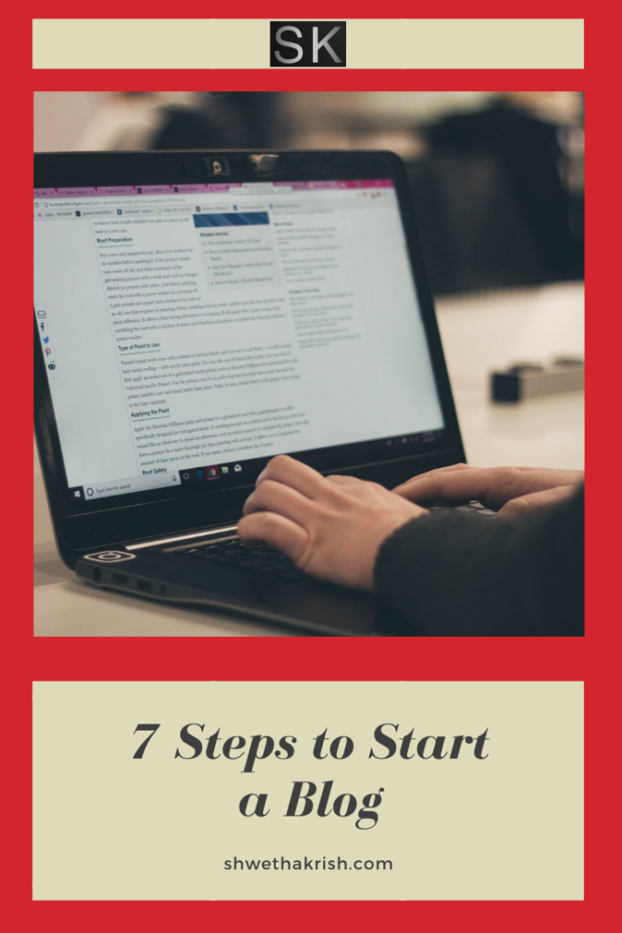 "data pin description=""7 steps to start a blog"""