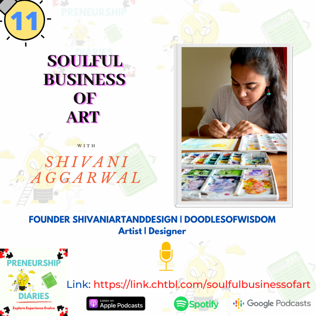 Podcast episode with Shivani Aggarwal-Preneurship Diaries-Soulful Business of Art