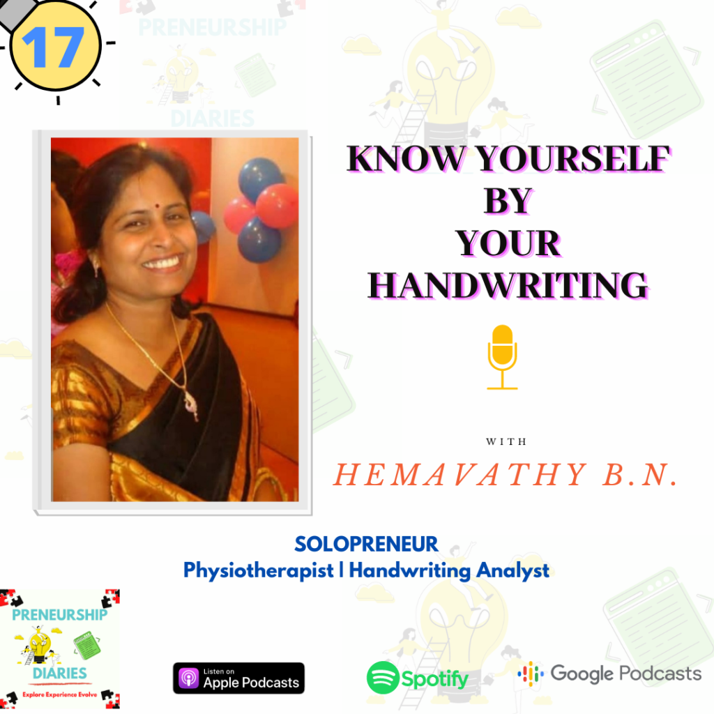 Know Yourself by your Handwriting with Physiotherapist and Handwriting Analyst, Hemavathy BN